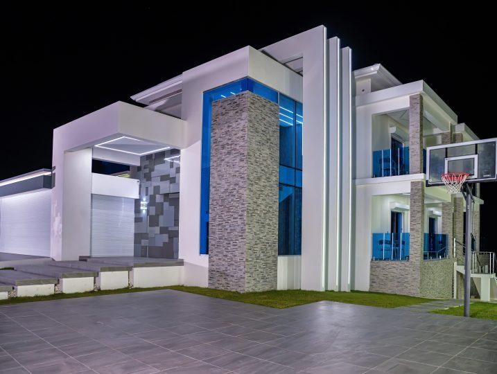Night View of Luxury Villa
