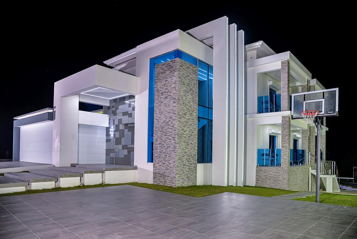 Night View of Luxury Villa