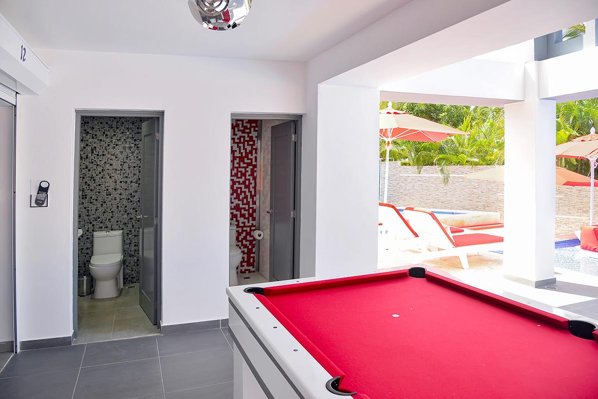 Pool Area Bathrooms